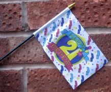 HAND WAVING FLAG (SMALL) - Happy 21st Birthday